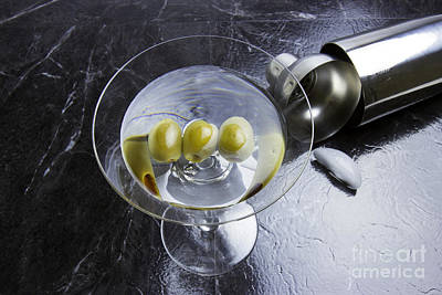 Martini Royalty-Free and Rights-Managed Images - Three Olive Martini by Karen Foley