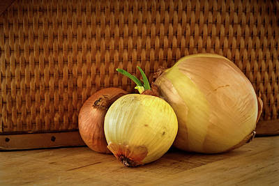 Photograph - Three Onions by  Onyonet  Photo Studios