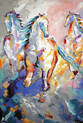 Painting - Three Out Of The Mist by Laurie Pace