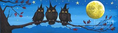 Three Owlwitches Art Print