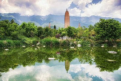 Photograph - Three Pagodas by Wade Aiken
