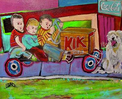 Painting - Three Pals On A Ride by Michael Litvack