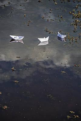 Three Paper Boats Art Print by Joana Kruse