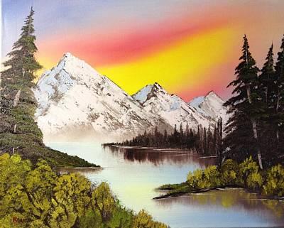 Three Peaks Art Print by Casey Barnes