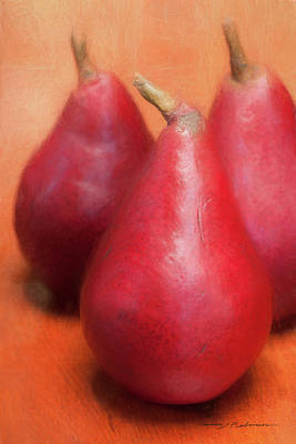 Photograph - Three Pears by George Robinson