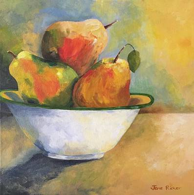 Painting - Pearing Up by Jane Ricker
