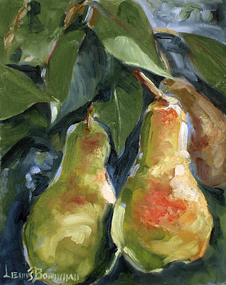 Painting - Three Pears by Lewis Bowman