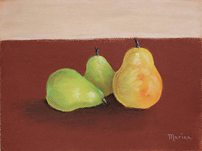 Painting - Three Pears by Marina Garrison