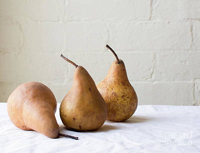 Photograph - Three Pears by Natalie Board