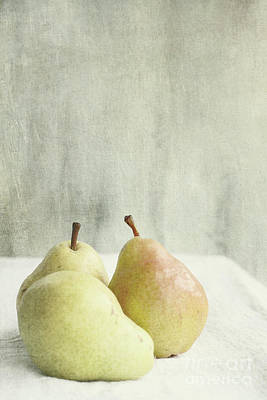Photograph - Three Pears by Stephanie Frey