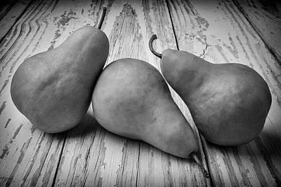 Three Pears Still Life Art Print