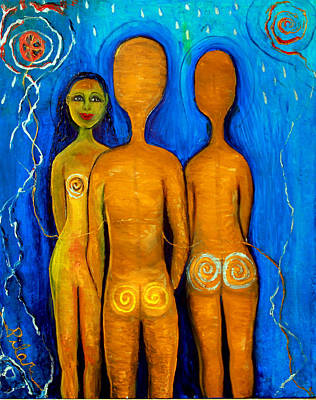 Painting - Three People by Pilar  Martinez-Byrne