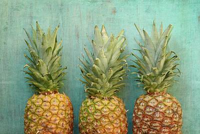Three Pineapples Print by Joy StClaire
