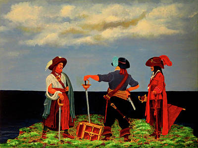 Painting - Three Pirates by Robert Marquiss