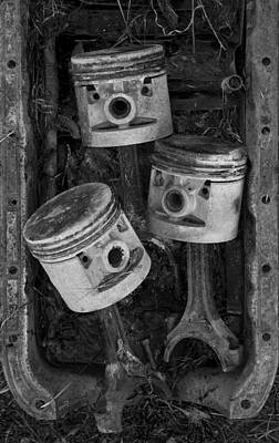 Photograph - Three Pistons In A Pan by Paul DeRocker