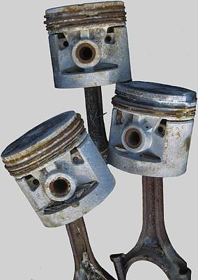 Photograph - Three Pistons by Paul DeRocker