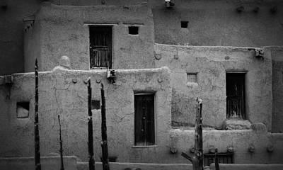 Photograph - Tri-plex Pueblo Taos by Nadalyn Larsen