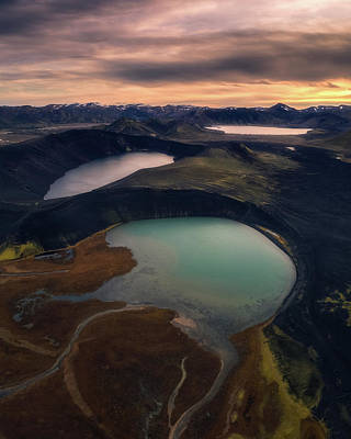 Highlands Photograph - Three Ponds In A Row by Tor-Ivar Naess