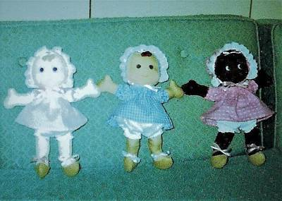 Photograph - Three Rainbow Baby Dolls by Denise Fulmer