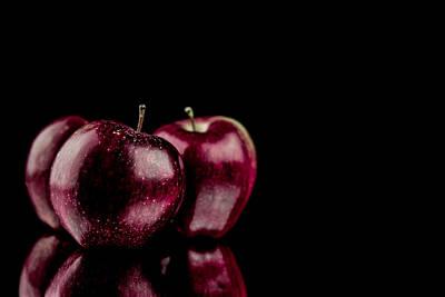Three Red Apples  Original