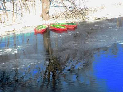 Photograph - Three Red Boats by Stephanie Moore