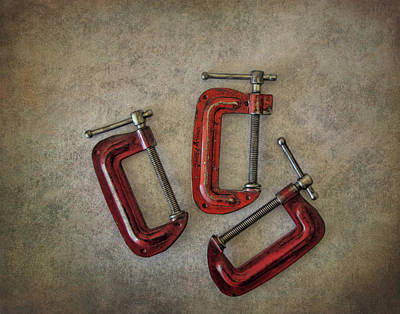 Photograph - Three Red C Clamps by David and Carol Kelly