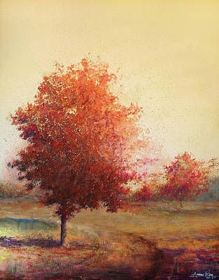 Painting - Three Red Trees by Andrew King