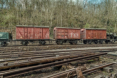 Photograph - Three Red Wagons by Stewart Scott