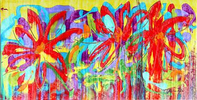 Three Reds Art Print by Pauline Ross