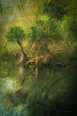 Spring Scenery Photograph - Three River Palms by Marvin Spates