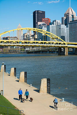 Three Rivers Heritage Trail Along The Allegheny River Pittsburgh Pennsylvania Art Print