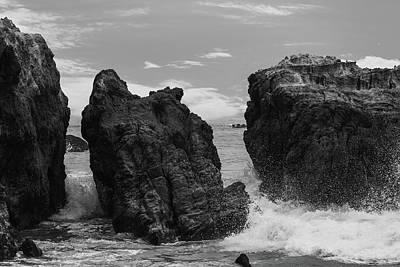 Photograph - Three Rocks Bw by Robert Hebert