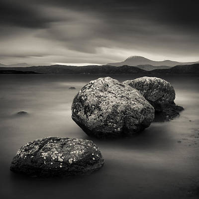 Photograph - Three Rocks by Dave Bowman