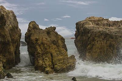 Photograph - Three Rocks by Robert Hebert