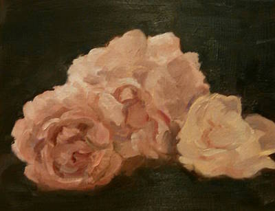 Painting - Three Roses by Marcia Hochstetter