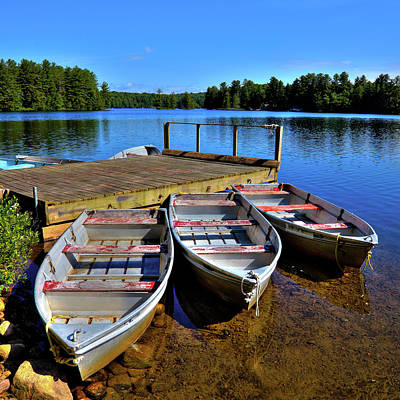 Photograph - Three Rowboats by David Patterson