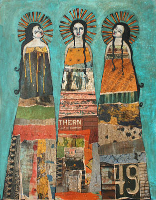 Angel Painting - Three Saints by Jane Spakowsky