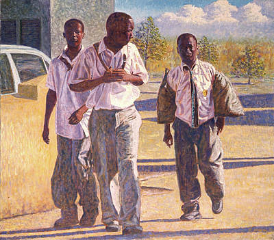 Painting - Three School Boys by Ritchie Eyma