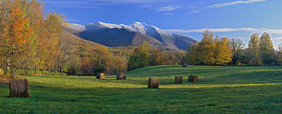 Photograph - Three Seasons Mt. Mansfield Vermont by George Robinson