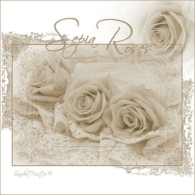 Photograph - Three Sepia Roses  by Sandra Foster