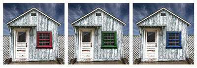 Photograph - Three Sheds by Jerry Golab