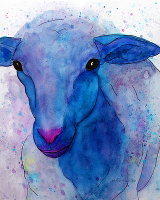 Three Sheep, 1 Of 3 Art Print by Moon Stumpp