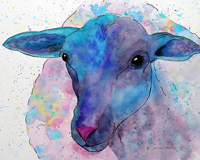Three Sheep,  3 Of 3 Art Print by Moon Stumpp