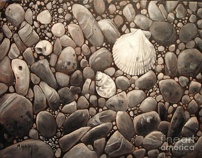 Painting - Three Shells by Mary Hubley