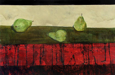 Painting - Three Sides Of Pears by Ellen Beauregard