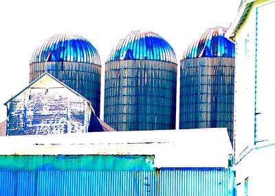 Photograph - Three Silos #2 by Photography by Tiwago