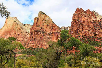 Photograph - Three Sisters At Zion by Ben Graham