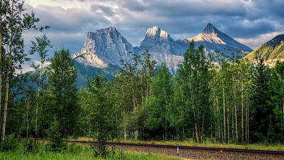 Charity Photograph - Three Sisters And The Railroad by Joan Carroll