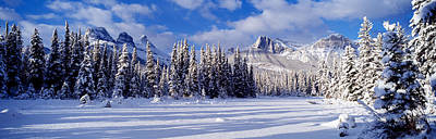Snow-covered Landscape Photograph - Three Sisters Bow Valley Kananaskis by Panoramic Images