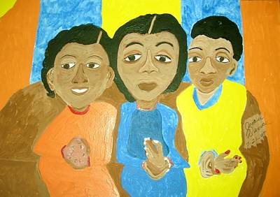 Painting - Three Sisters by Joan Dance